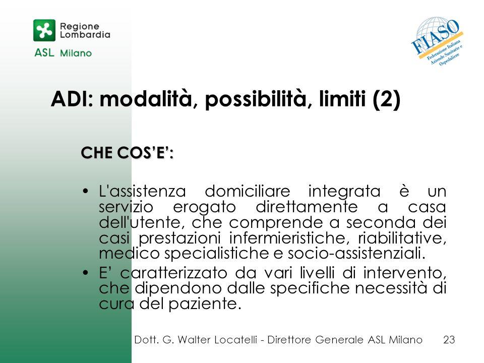 ADI: modalità, possibilità, limiti (2)