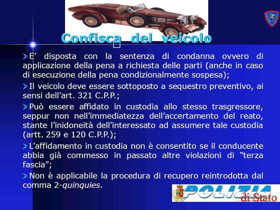 Confisca del veicolo