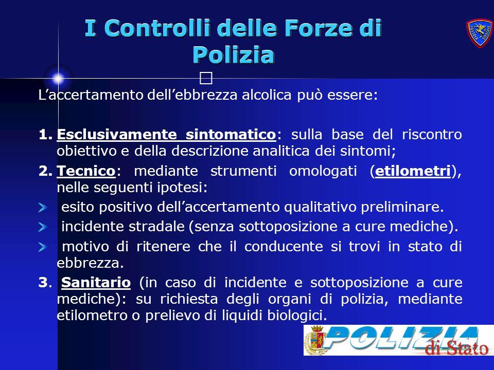I Controlli delle Forze di Polizia