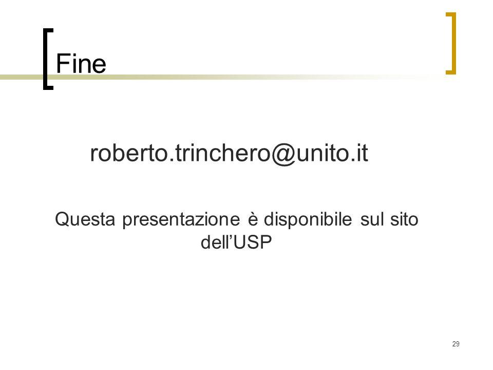 Questa presentazione è disponibile sul sito dell'USP