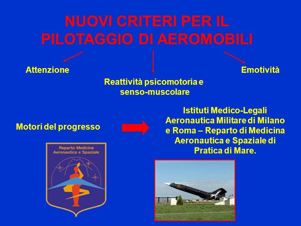 NUOVI CRITERI PER IL PILOTAGGIO DI AEROMOBILI