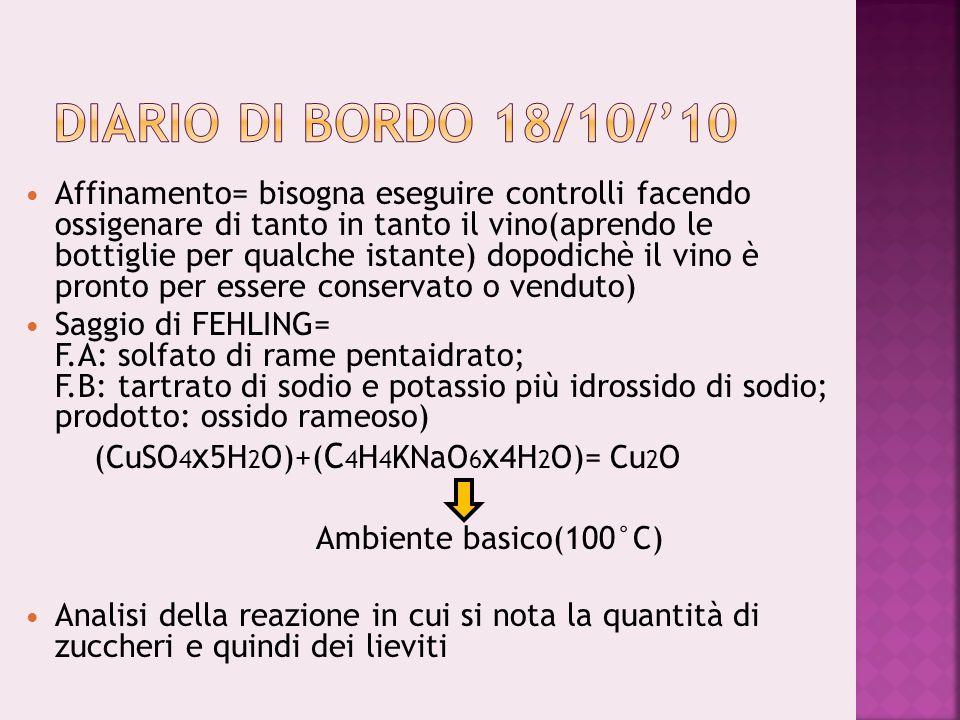 Diario di bordo 18/10/'10