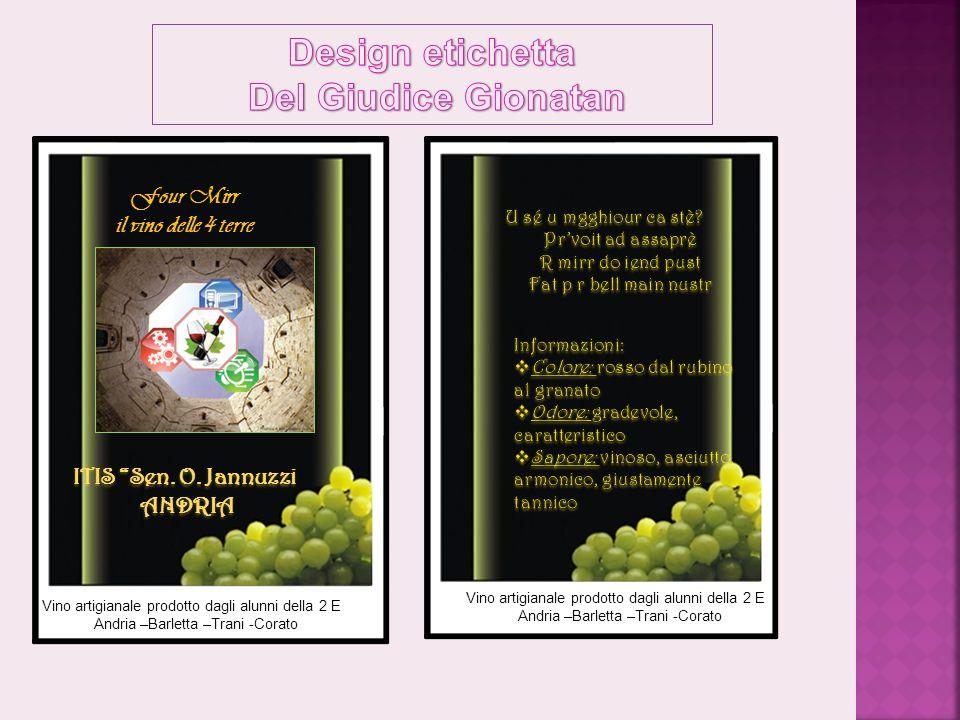 Design etichetta Del Giudice Gionatan
