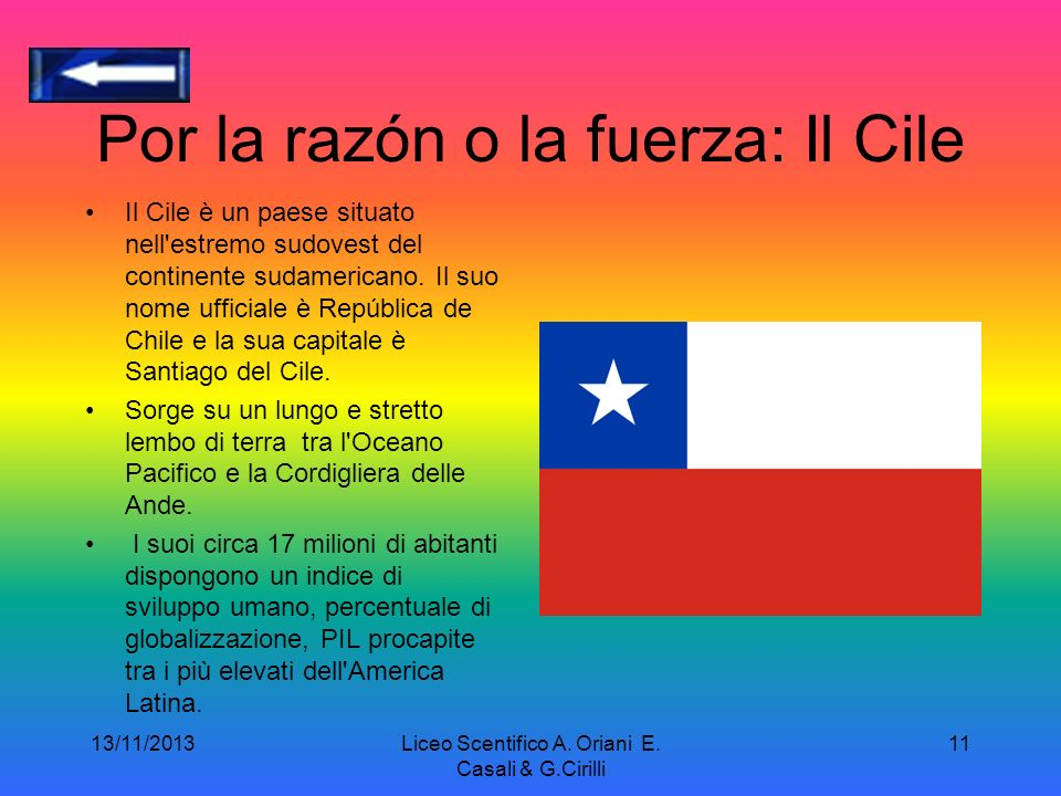 Por la razón o la fuerza: Il Cile