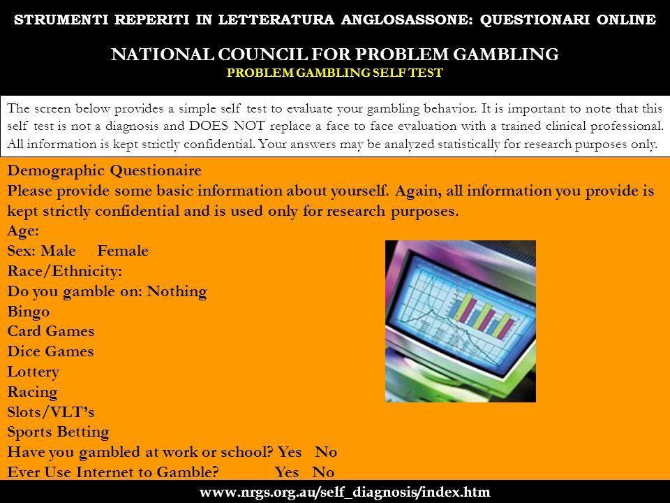 STRUMENTI REPERITI IN LETTERATURA ANGLOSASSONE: QUESTIONARI ONLINE