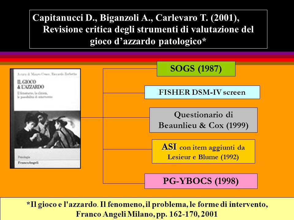 Capitanucci D., Biganzoli A., Carlevaro T. (2001),