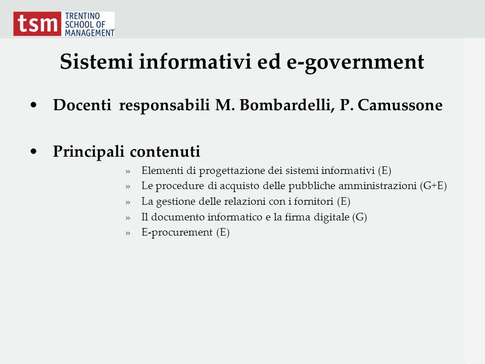 Sistemi informativi ed e-government