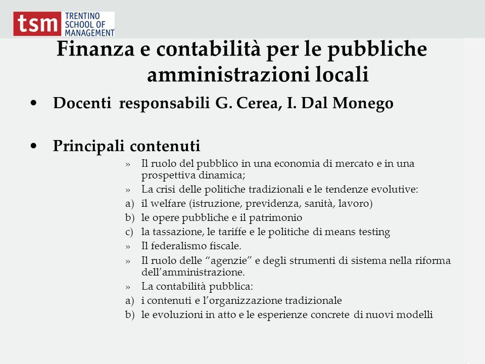 Finanza e contabilità per le pubbliche amministrazioni locali