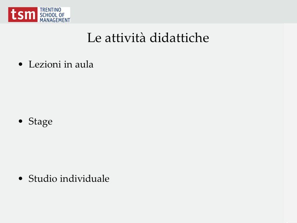 Le attività didattiche