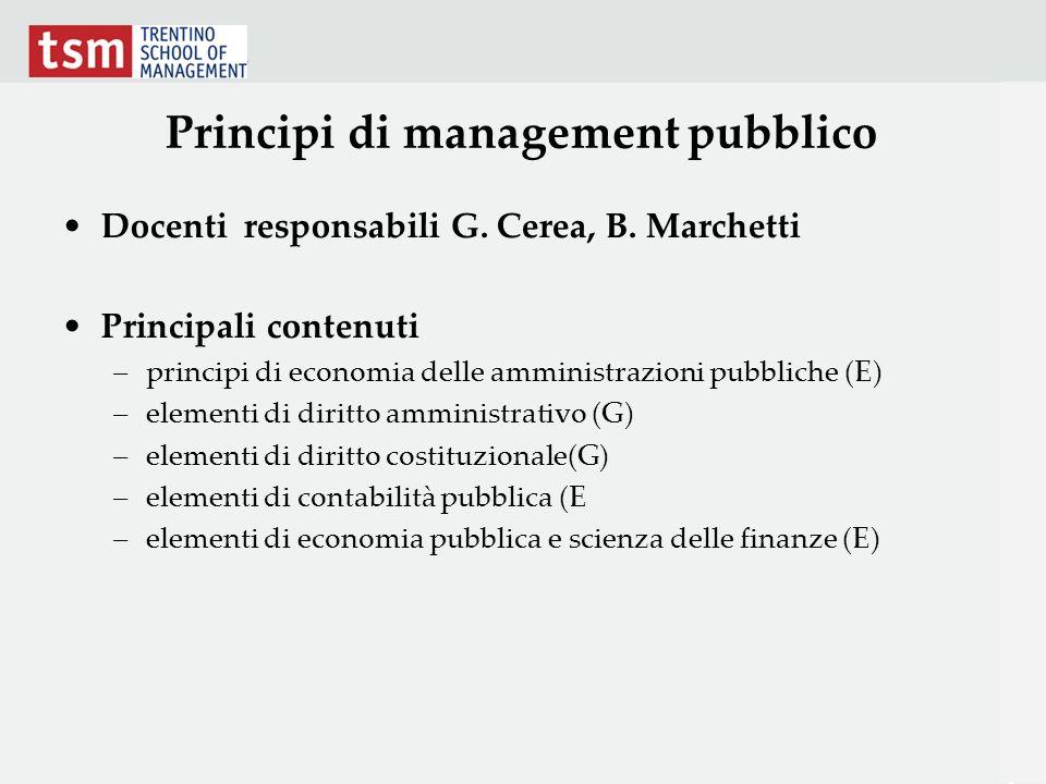 Principi di management pubblico