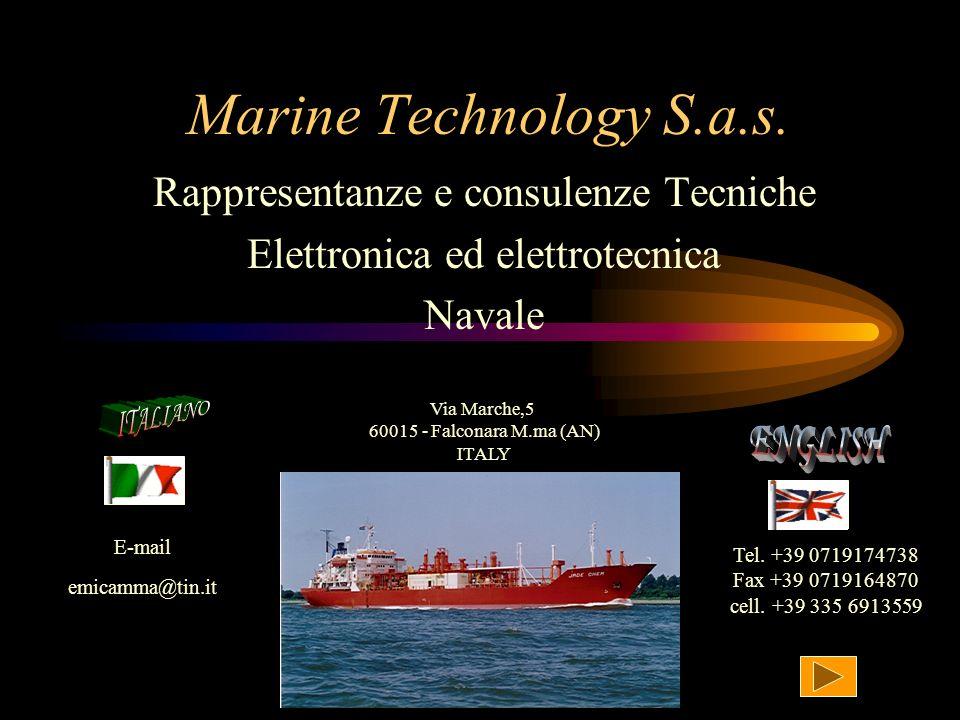 Marine Technology S.a.s. ENGLISH Rappresentanze e consulenze Tecniche