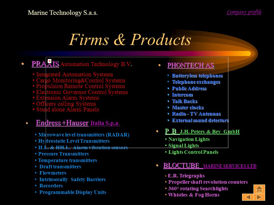 Firms & Products PRAXIS Automation Technology B.V.