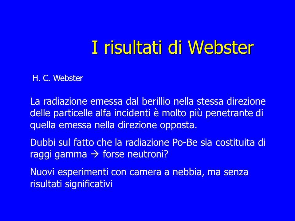 I risultati di WebsterH. C. Webster.