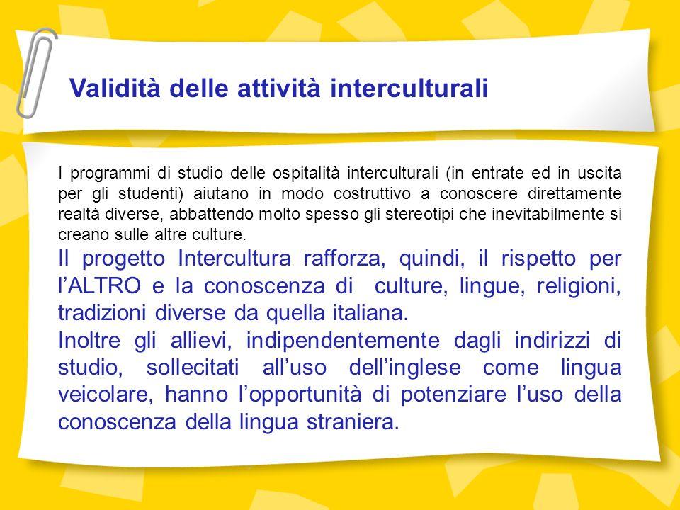 Validità delle attività interculturali