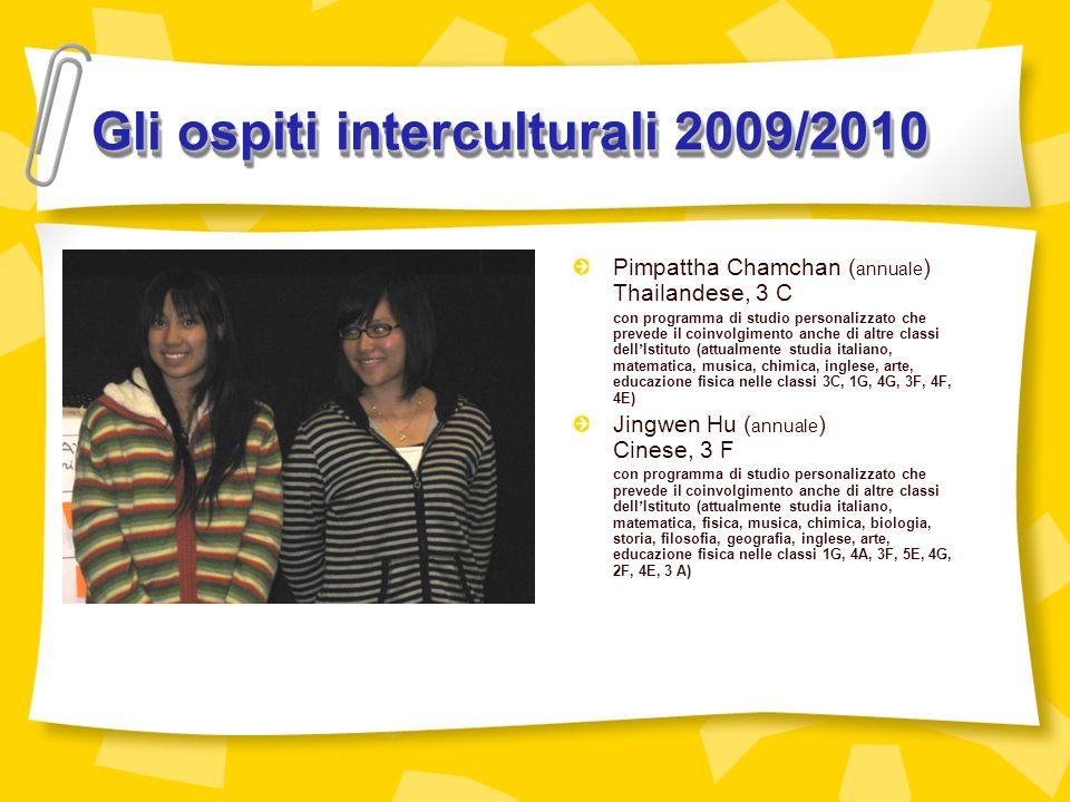 Gli ospiti interculturali 2009/2010