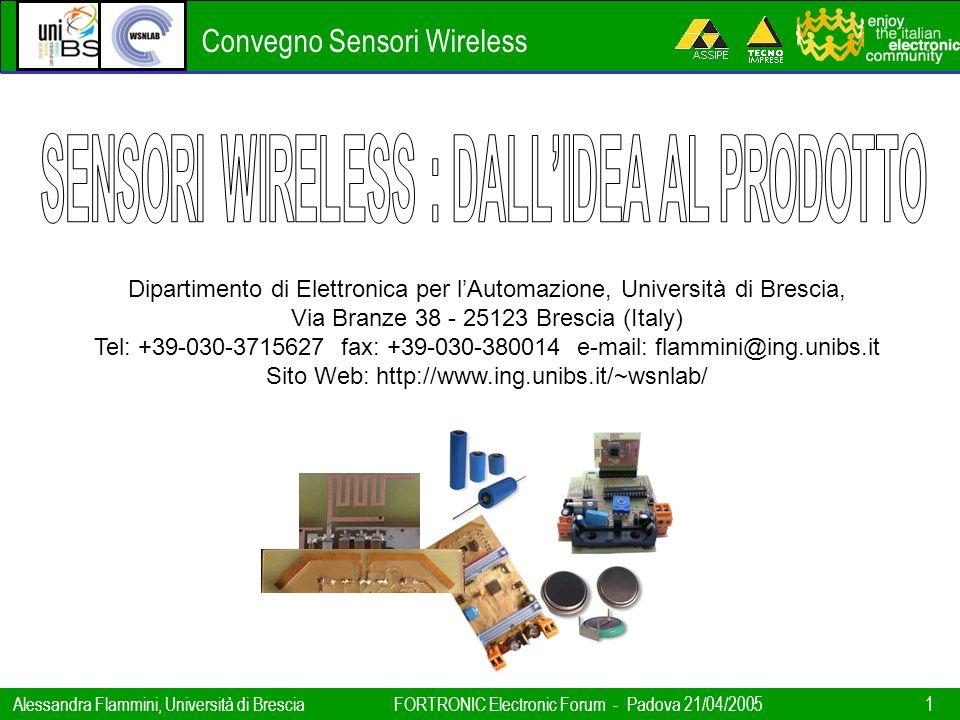 SENSORI WIRELESS : DALL'IDEA AL PRODOTTO