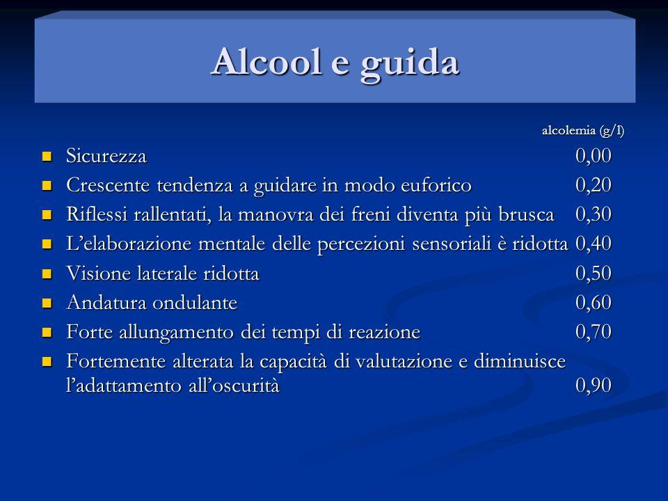 Alcool e guida Alcool e guida
