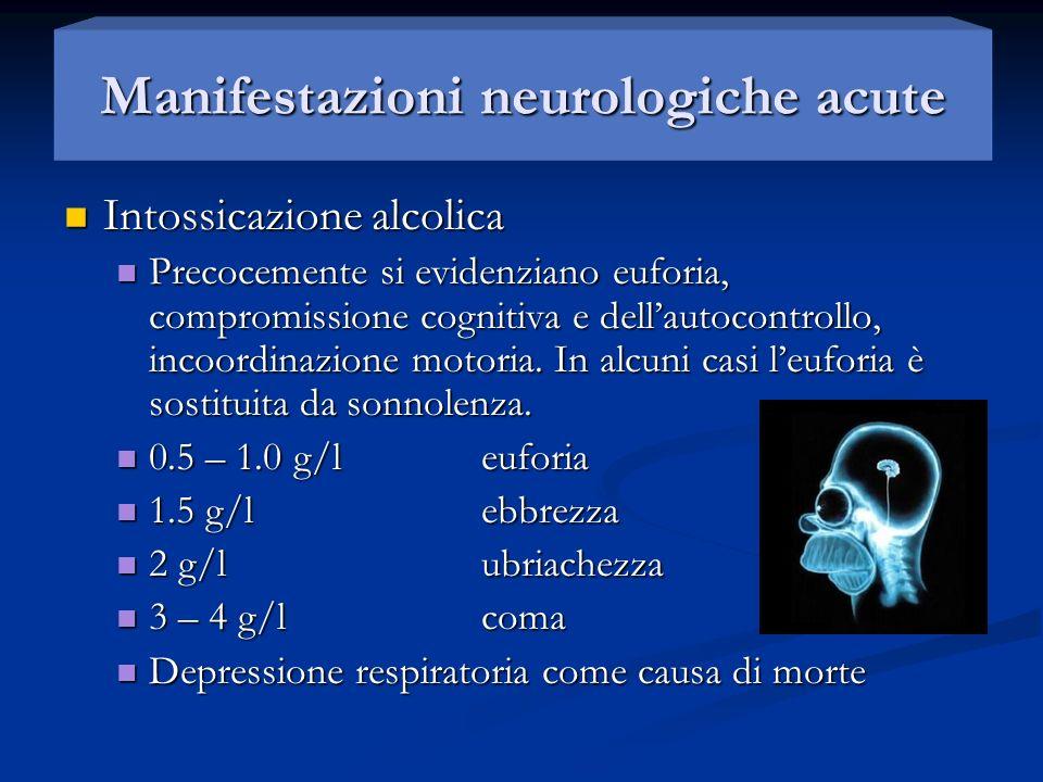 Manifestazioni neurologiche acute