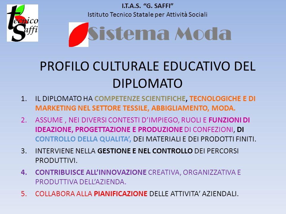 Sistema Moda PROFILO CULTURALE EDUCATIVO DEL DIPLOMATO