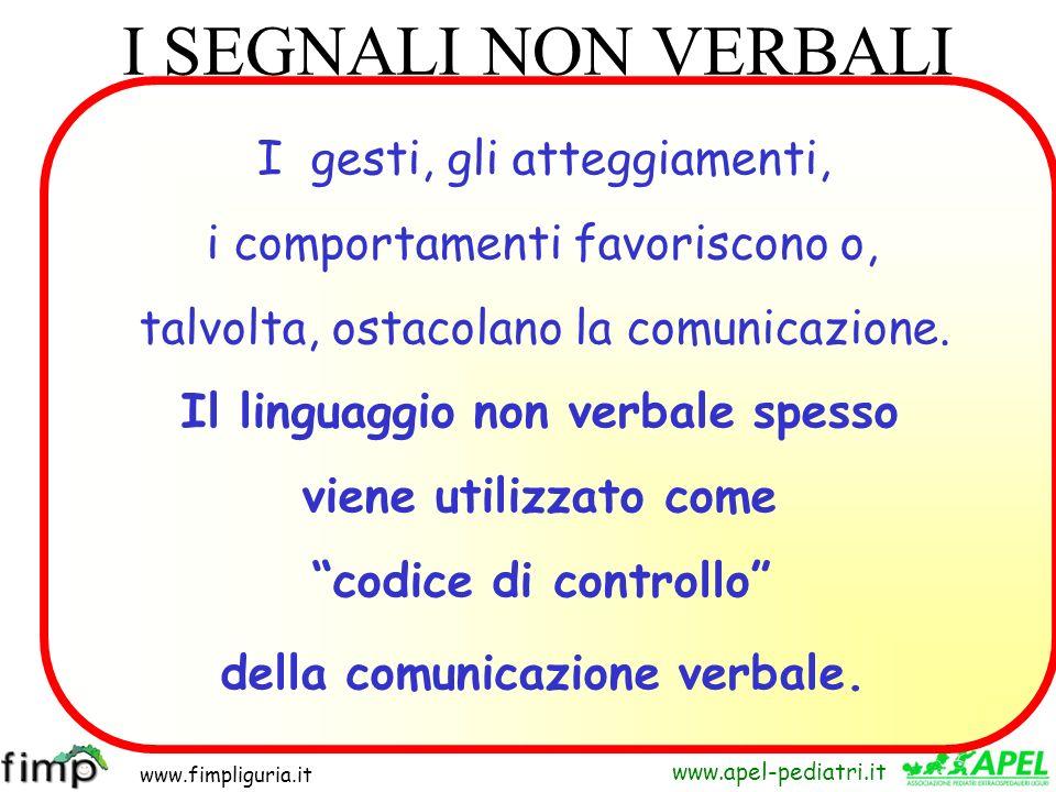 Il linguaggio non verbale spesso