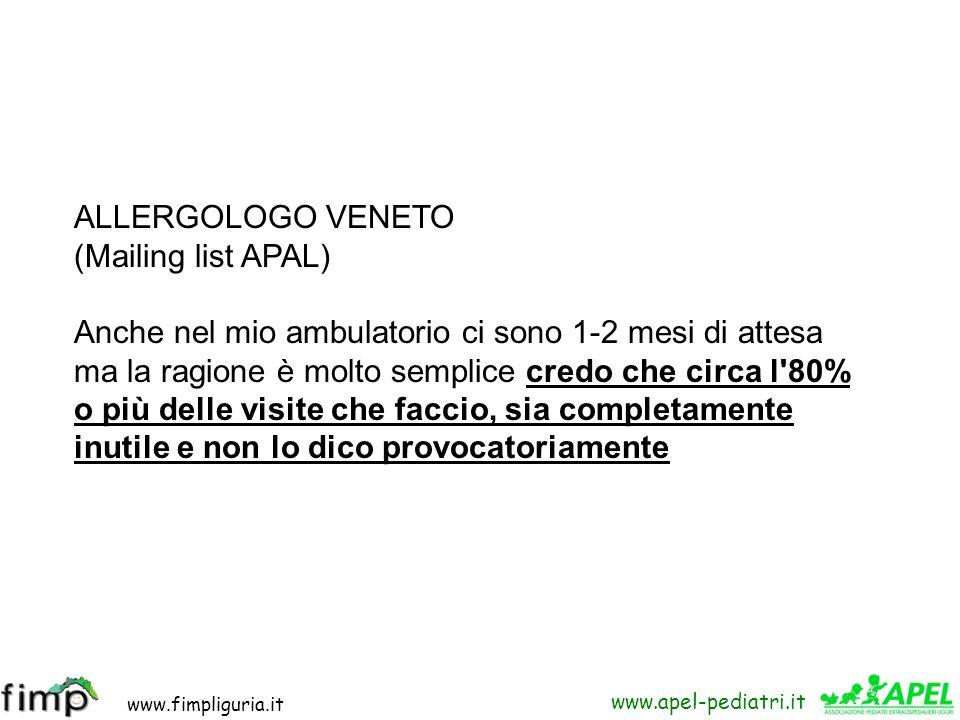 ALLERGOLOGO VENETO(Mailing list APAL)