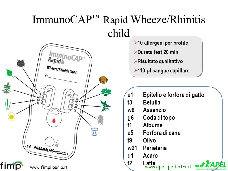 ImmunoCAP™ Rapid Wheeze/Rhinitis child