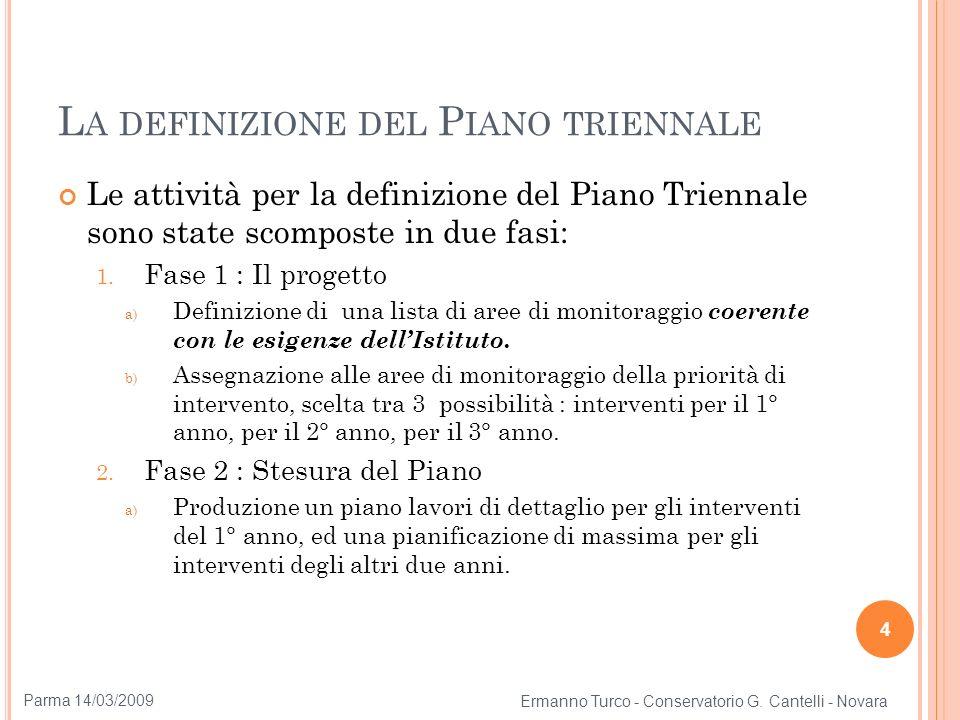 La definizione del Piano triennale