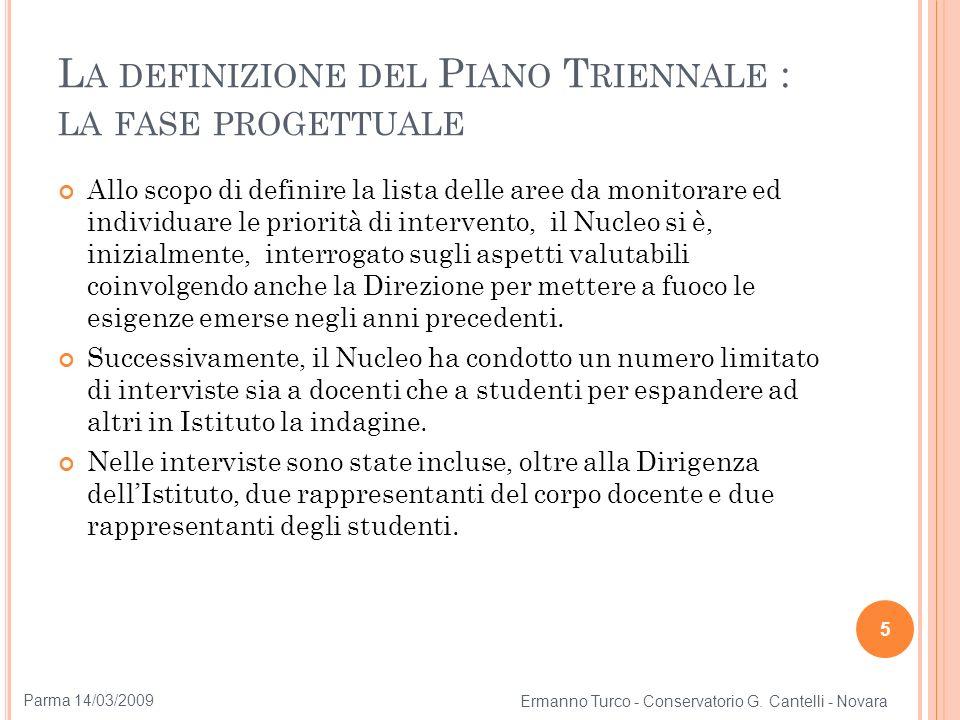 La definizione del Piano Triennale : la fase progettuale