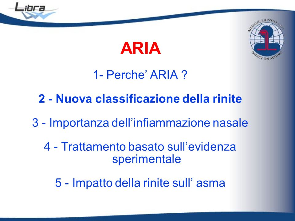 2 - Nuova classificazione della rinite