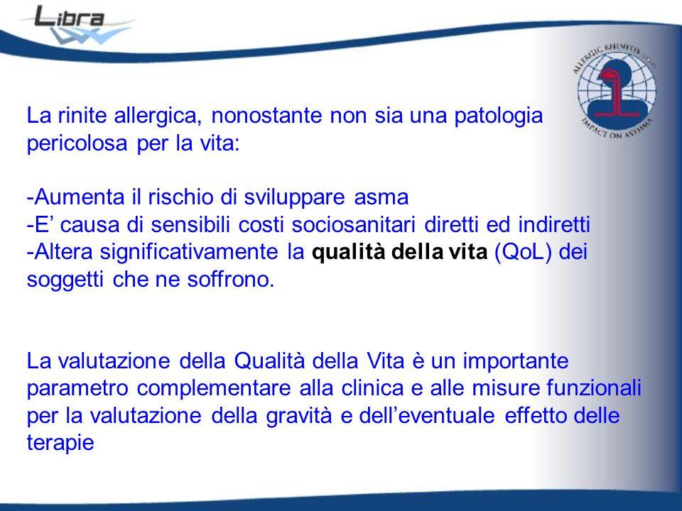 La rinite allergica, nonostante non sia una patologia