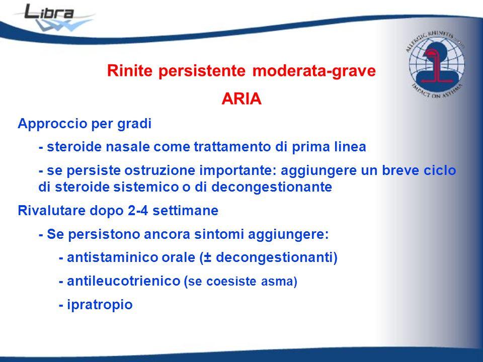 Rinite persistente moderata-grave