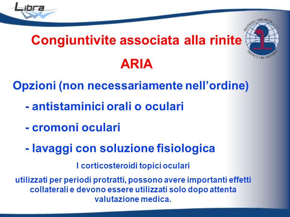 Congiuntivite associata alla rinite I corticosteroidi topici oculari