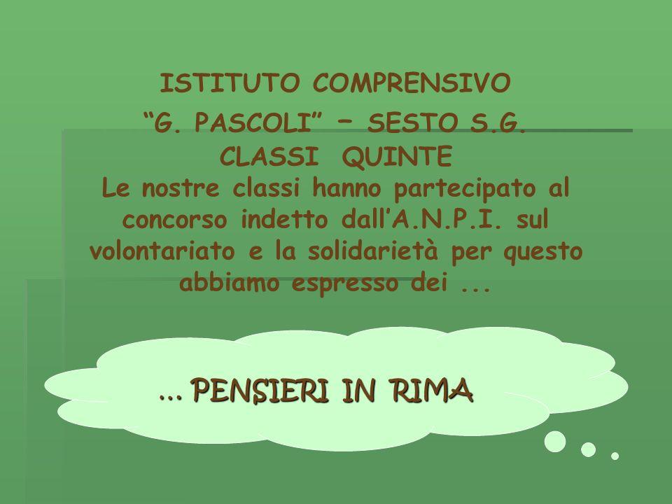 ISTITUTO COMPRENSIVO G. PASCOLI – SESTO S. G
