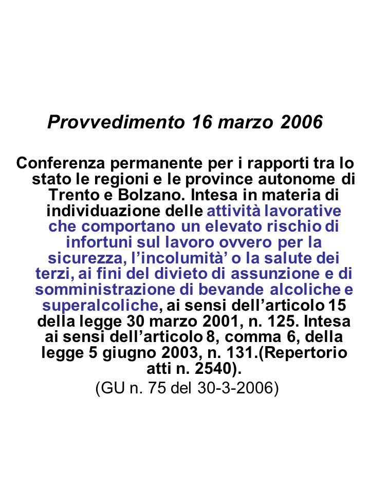 Provvedimento 16 marzo 2006