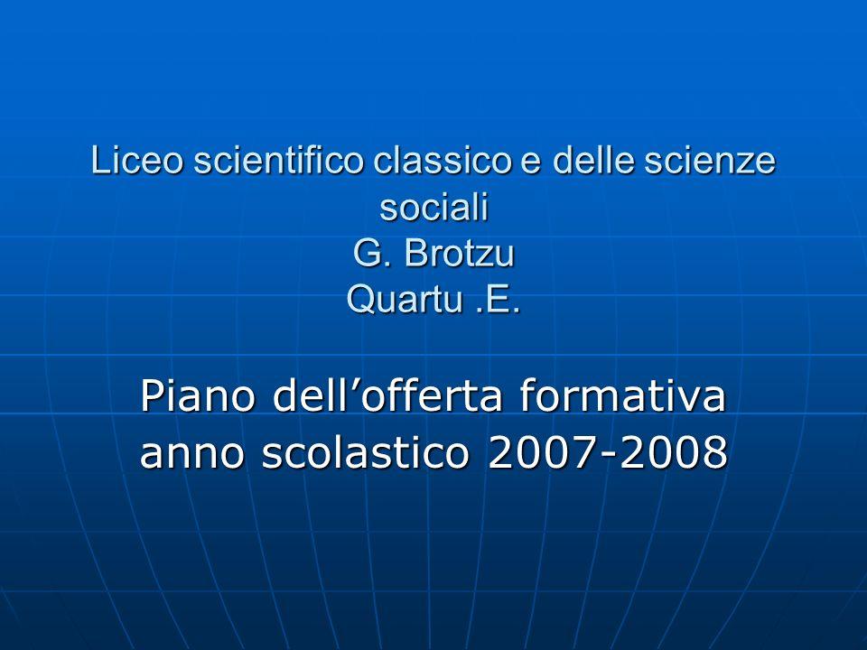 Piano dell'offerta formativa anno scolastico 2007-2008
