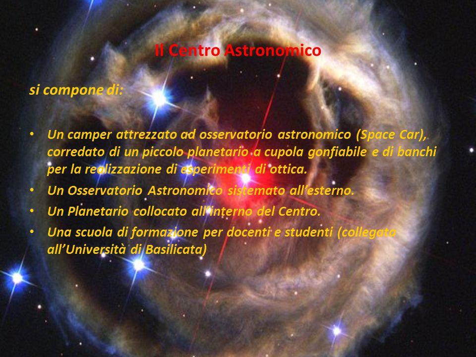 Il Centro Astronomico si compone di: