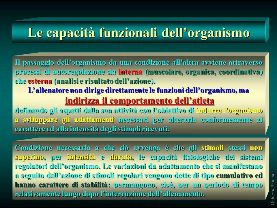 Le capacità funzionali dell'organismo