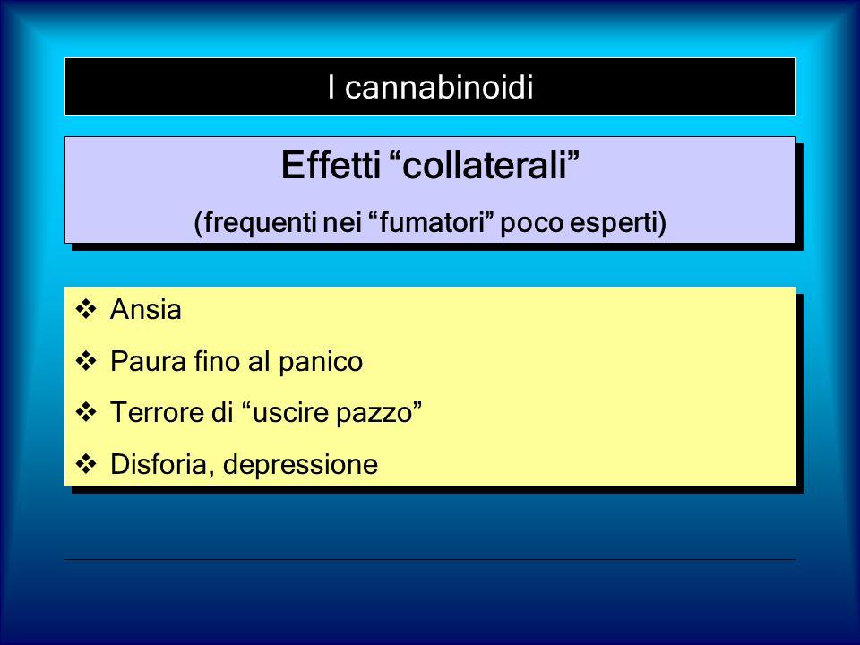 Effetti collaterali (frequenti nei fumatori poco esperti)