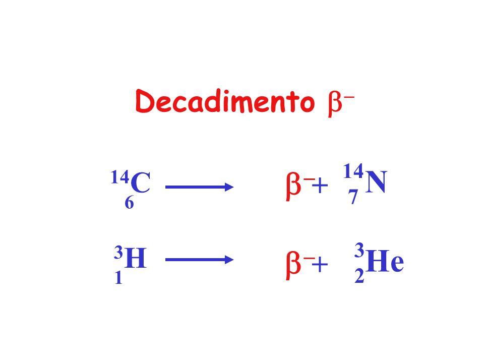 Decadimento b- 14C 6 b- N 14 7 + 3H 1 b- He 3 2 +