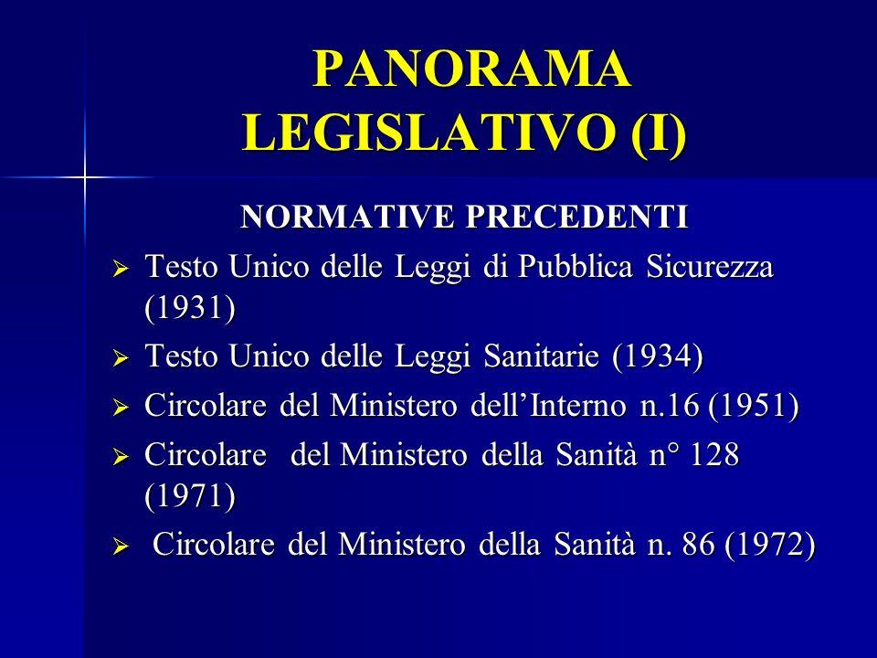 PANORAMA LEGISLATIVO (I)