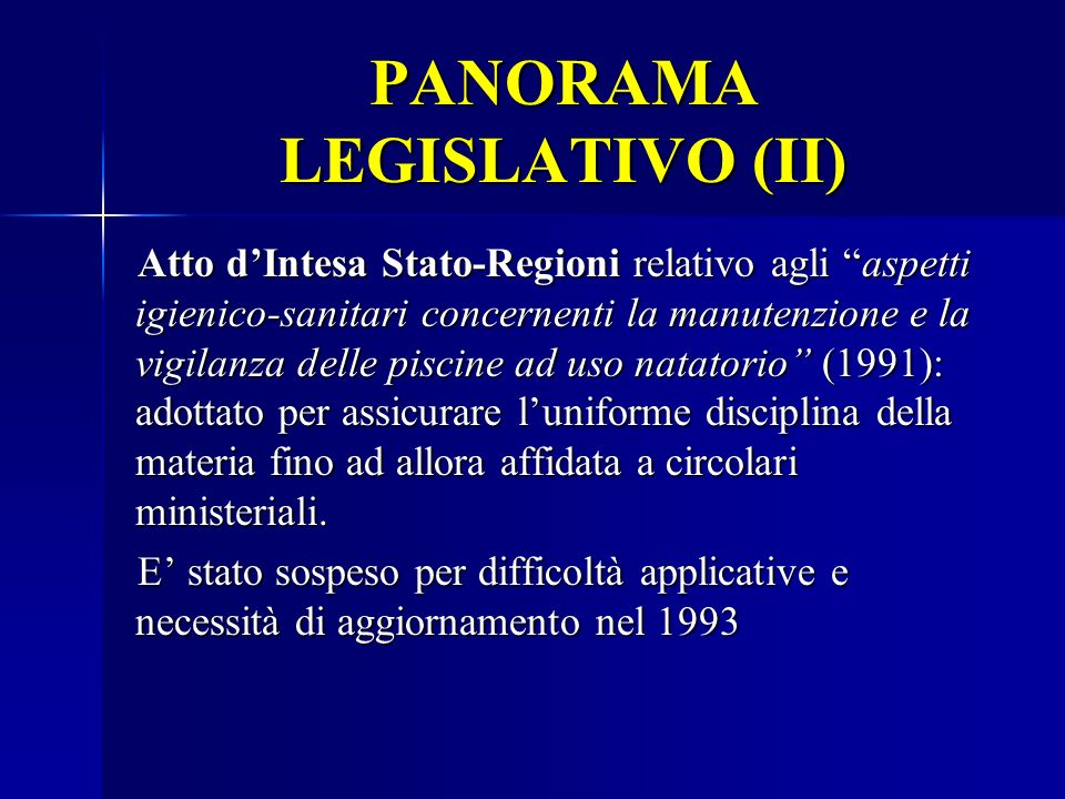 PANORAMA LEGISLATIVO (II)