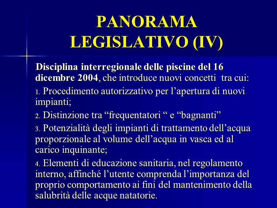 PANORAMA LEGISLATIVO (IV)