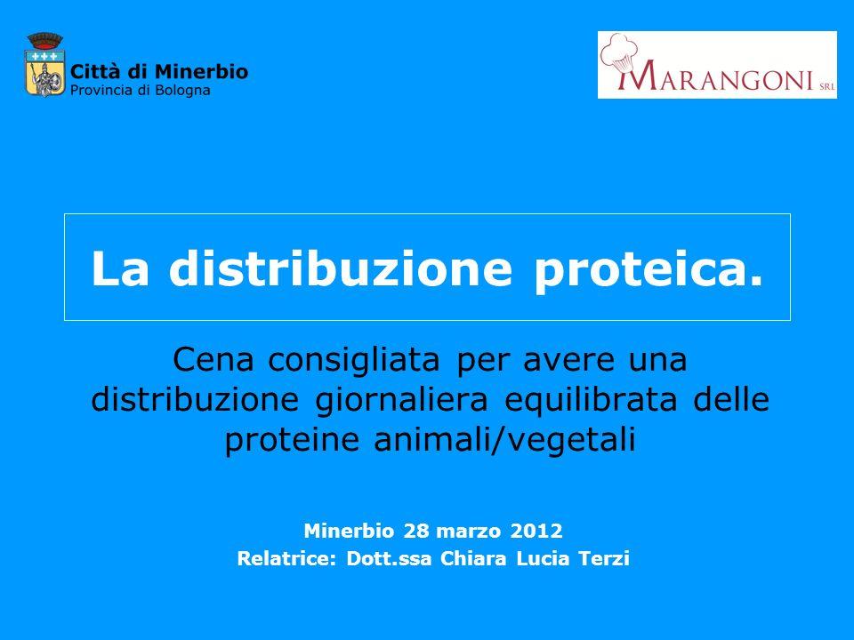 La distribuzione proteica.