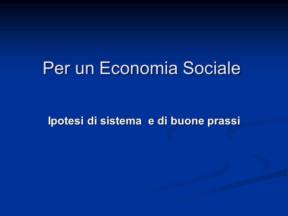 Per un Economia Sociale