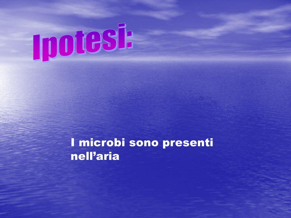 Ipotesi: I microbi sono presenti nell'aria