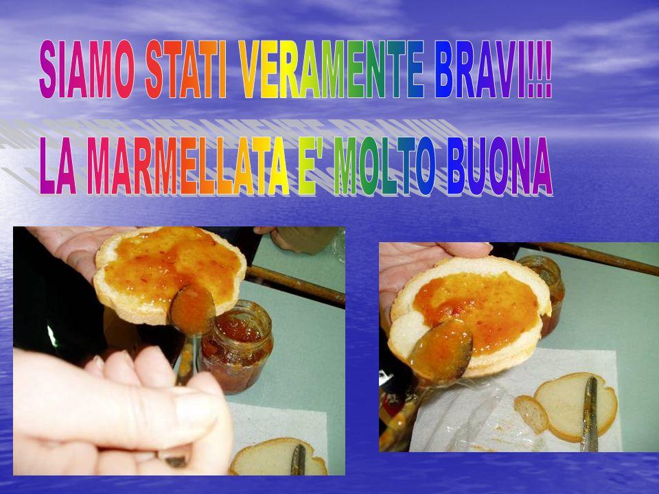 SIAMO STATI VERAMENTE BRAVI!!! LA MARMELLATA E MOLTO BUONA