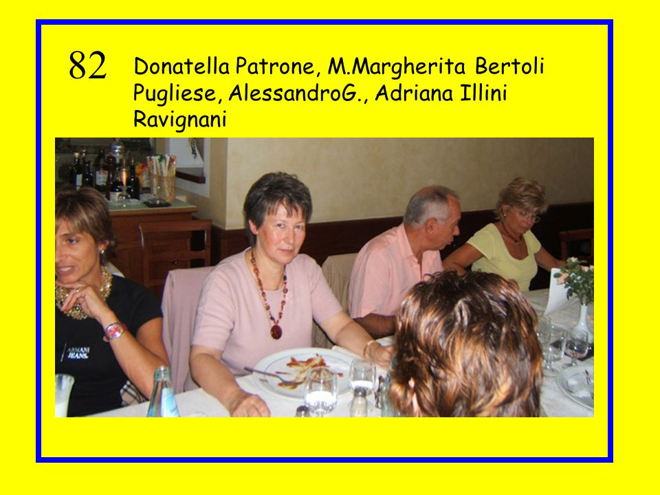 82 Donatella Patrone, M.Margherita Bertoli Pugliese, AlessandroG., Adriana Illini Ravignani