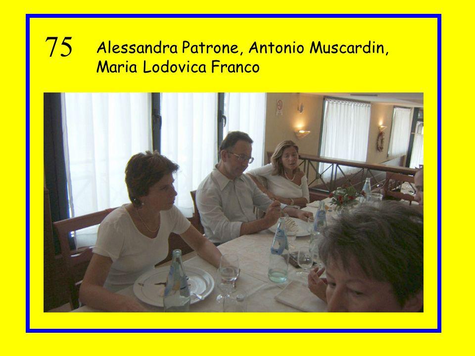 75 Alessandra Patrone, Antonio Muscardin, Maria Lodovica Franco
