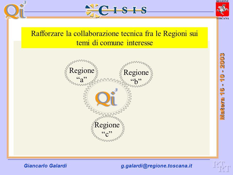 Rafforzare la collaborazione tecnica fra le Regioni sui temi di comune interesse