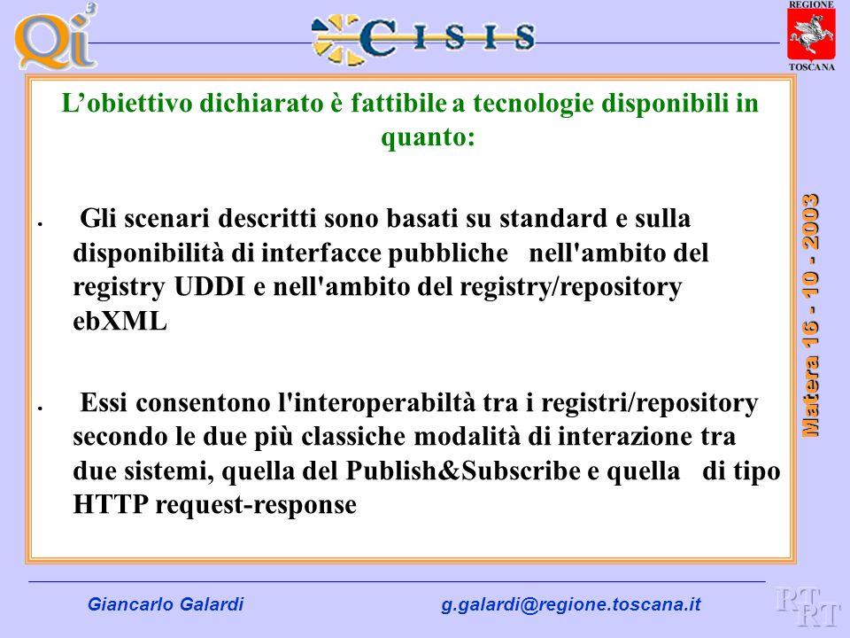 L'obiettivo dichiarato è fattibile a tecnologie disponibili in quanto: